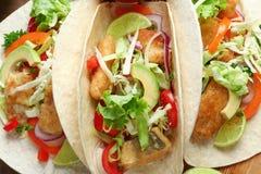 Tacos de peixes saborosos, close up Fotos de Stock