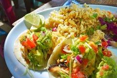 Tacos de poissons authentique Photos libres de droits