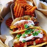 Tacos de poissons hawaïen photographie stock