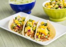 Tacos de pollo hawaianos del Bbq Imagen de archivo