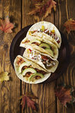 Tacos de poulet Photos libres de droits
