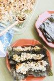 Tacos de sushi grillé par Hawaïen images libres de droits
