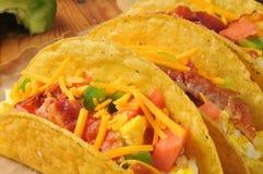 Tacos del desayuno imagen de archivo libre de regalías
