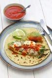 Tacos del relleno de Chile (chile relleno), cocina mexicana Foto de archivo libre de regalías
