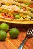 Tacos della tortiglia piegato manzo Fotografie Stock