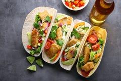Tacos di pesci saporito Immagine Stock Libera da Diritti