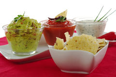 Tacos with Dips Stock Photos