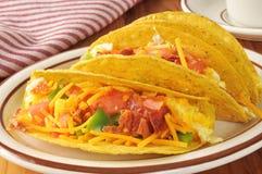 Tacos do café da manhã fotografia de stock