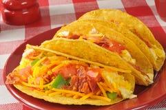 Tacos do café da manhã fotos de stock