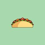 Tacos e burrito, linha ícone do shaurma Foto de Stock