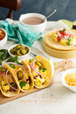 Tacos with  eggs for breakfast Stock Images