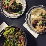 Tacos et poussée Photographie stock libre de droits