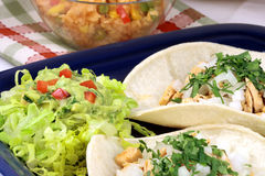 Tacos gastronome fin photos libres de droits