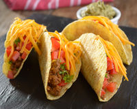 Tacos with ground beef and vegetables Stock Images