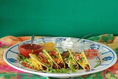 Tacos and Ingredients Stock Photo