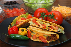 Tacos with Ingredients Stock Photos