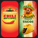 Tacos menu meksykański chili Royalty Ilustracja