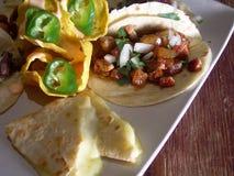 Tacos messicano con i nachos fotografia stock libera da diritti