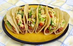 Tacos mexicain d'une plaque Photo stock