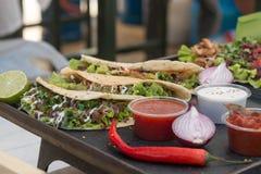 Tacos mexicain de boeuf Photo stock