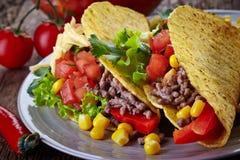 Tacos mexicain de nourriture Photo libre de droits