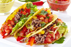 Tacos mexicain de nourriture Images libres de droits