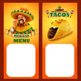 Tacos mexican MENU Royalty Free Stock Image