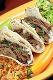 Tacos mexicano Fotografía de archivo libre de regalías
