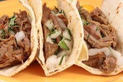 Tacos mexicano Fotos de archivo libres de regalías