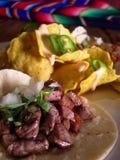 Tacos mexicano com nachos imagem de stock