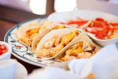 Tacos mexicano delicioso foto de stock