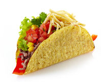 Tacos mexicanos de la comida Fotografía de archivo libre de regalías