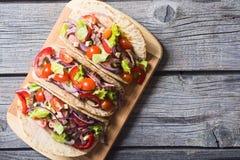 Tacos mexicanos del cerdo Fotografía de archivo libre de regalías