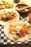 Tacos from mexico chicken tex mex restaurant Stock Image