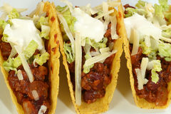 Tacos with minced beef Royalty Free Stock Photography