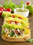 Tacos mit Schweinefleisch Lizenzfreies Stockbild