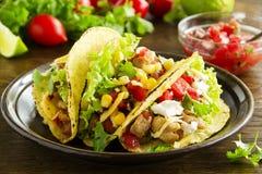 Tacos mit Schweinefleisch Lizenzfreie Stockfotos