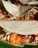 Tacos piccante del gambero fotografie stock