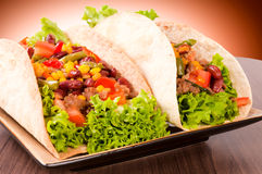 Tacos plate Royalty Free Stock Image