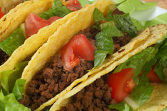 Tacos on plate horizontal Royalty Free Stock Photography