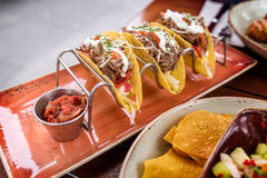 Tacos on plate Royalty Free Stock Photos