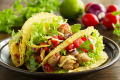 Tacos with pork stock image