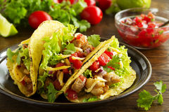 Tacos with pork stock photo