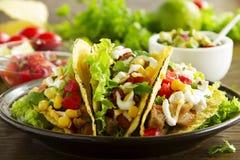 Tacos with pork stock photos