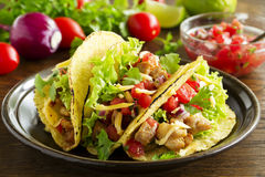 Tacos with pork stock images