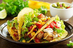 Tacos with pork stock photography