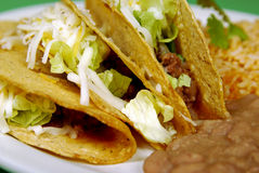 Tacos with refried beans Stock Photos