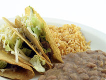 Tacos with refried beans Royalty Free Stock Image