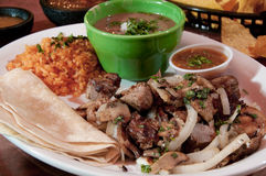 Tacos with rice and beans Royalty Free Stock Photography