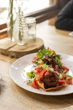 Tacos with salad and mix ingredient Royalty Free Stock Image